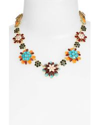 kate spade new york - Multicolor 'bold Blooms' Graduated Collar Necklace - Multi/ Gold - Lyst