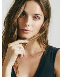 Free People | White Golden River Ring | Lyst