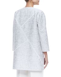 Lafayette 148 New York - White Anissa 3/4-sleeve Topper Jacket - Lyst