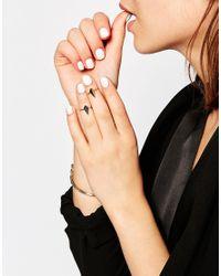 SELECTED | Metallic Silver Luna Fingertop Multipack Rings | Lyst