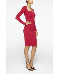 Nicole Miller | Red Felicity Stretch-Jersey Dress | Lyst