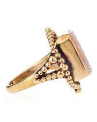 Stephen Dweck - Pink Small Frosted Rock Crystal Motherofpearl Ring Size 7 - Lyst