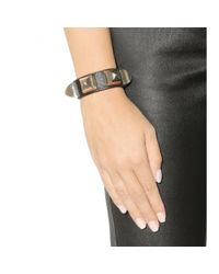 Givenchy - Brown Studded Leather Bracelet - Lyst