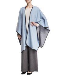 Eskandar - Blue Reversible Cashmere-blend Cape - Lyst