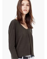 Mango | Natural Cotton T-shirt | Lyst