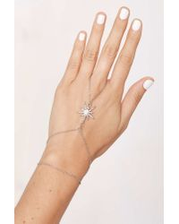 Nasty Gal | Metallic Star Power Pavã© Hand Chain | Lyst