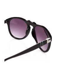 Forever 21 - Black Animal Print D-Frame Sunglasses for Men - Lyst