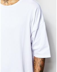 ASOS | White Super Oversized T-shirt In Heavyweight Jersey for Men | Lyst