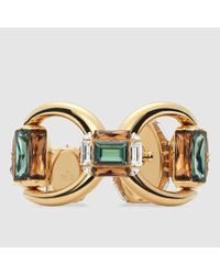 Gucci - Metallic Bracelet With Swarovski Crystals - Lyst