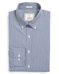 Todd Snyder | Blue Trim Fit Check Dress Shirt for Men | Lyst