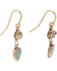 Judy Geib | Green Women's Herkimer Diamond & Opal Double-drop Earrings | Lyst