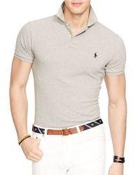Polo Ralph Lauren | Gray Slim Fit Polo for Men | Lyst
