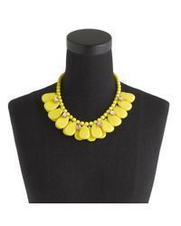 J.Crew | Yellow Dangling Teardrops Necklace | Lyst