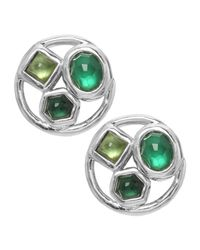Ippolita | Green Bedrock Round Button Earrings | Lyst