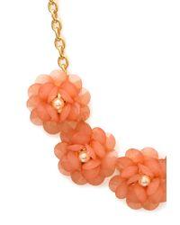 Forever 21 - Orange Ladylike Gathered Floral Necklace - Lyst
