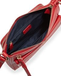 Cole Haan - Red Amherst Leather Crossbody Bag - Lyst