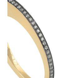 Noor Fares - Black Crescent Moon 18-Karat Gold Diamond Ring - Lyst