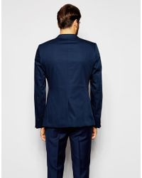 Noak - Cotton Blazer In Super Skinny Fit - Blue for Men - Lyst