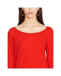 Polo Ralph Lauren - Red Cotton Jersey Long-sleeved Tee - Lyst