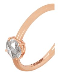 Anita Ko - Metallic 18-karat Rose Gold Diamond Ring - Lyst