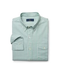 Polo Ralph Lauren | Green Striped Pullover Oxford Shirt for Men | Lyst
