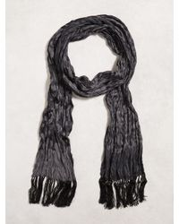 John Varvatos | Black Crinkled Leopard Scarf for Men | Lyst