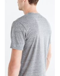 BDG - Gray Tri-blend Buttonless Standard-fit Henley Tee for Men - Lyst