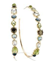 Ippolita - Multicolor 18k Rock Candy Gelato Multistone Hoop Earrings - Lyst