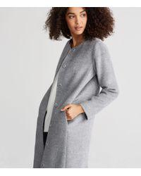 Eileen Fisher - Gray Suri Alpaca Long Coat - Lyst