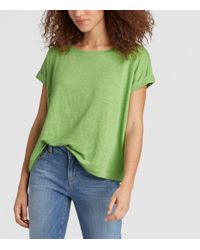 Eileen Fisher - Green Exclusive Organic Linen Jersey Box-top - Lyst