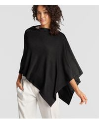 Eileen Fisher - Black Exclusive Merino Silk Cashmere Poncho - Lyst