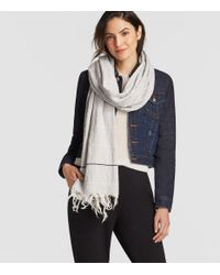 Eileen Fisher - Multicolor Recycled Cotton Blend Stripe Scarf - Lyst
