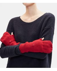 Eileen Fisher - Blue Lofty Recycled Cashmere Glovelettes With Mitten Flaps - Lyst