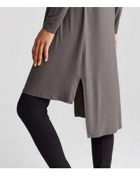 Eileen Fisher - Gray Merino Interlock Sweater Dress - Lyst