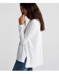 Eileen Fisher - White Organic Cotton Jersey Slub A-line Top - Lyst