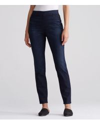 Eileen Fisher - Blue Organic Cotton Soft Stretch Denim Legging Jean - Lyst