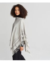 Eileen Fisher - Multicolor Undyed Alpaca Blanket Poncho - Lyst