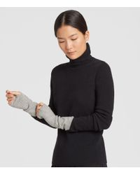 Eileen Fisher - Black Lofty Recycled Cashmere Striped Glovelettes - Lyst