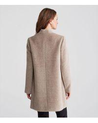 Eileen Fisher | Multicolor Drapey Suri Alpaca Notch Collar Long Coat | Lyst