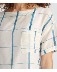 Eileen Fisher - Blue Hand-painted Organic Cotton Silk Top - Lyst