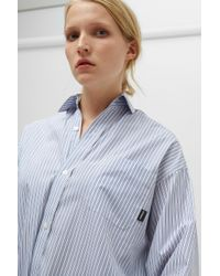 Vetements - White Oversized Striped Shirt - Lyst
