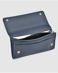Gloria Ortiz - Nina Large Navy Blue Leather Wallet - Lyst