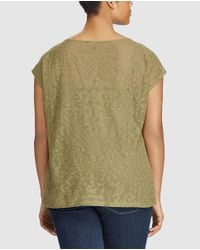 Denim & Supply Ralph Lauren - Multicolor Plus Size Embroidered T-shirt With Inner Camisole Top - Lyst