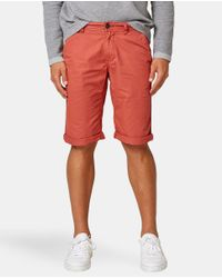 Esprit - Red Bermuda Shorts for Men - Lyst