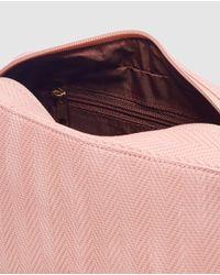 El Corte Inglés - Pink Toiletry Bag With Zip - Lyst