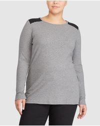 Denim & Supply Ralph Lauren - Gray Plus Size Grey Long Sleeve T-shirt - Lyst