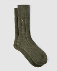 Tommy Hilfiger - Short Green Socks for Men - Lyst