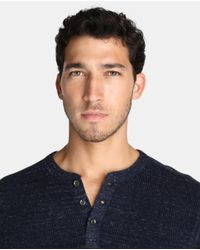 Polo Ralph Lauren - Blue Sweater With A Button-front Neckline for Men - Lyst