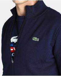 Lacoste | Blue Sports Jacket With Zip for Men | Lyst