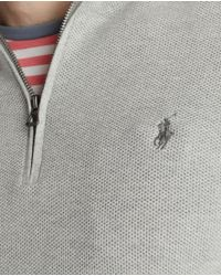 Polo Ralph Lauren - Gray Grey Pima Cotton Sweater With A Polo Neck for Men - Lyst
